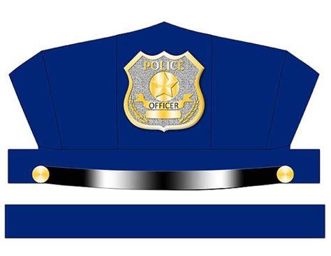 digital  blue police hat printable police hat