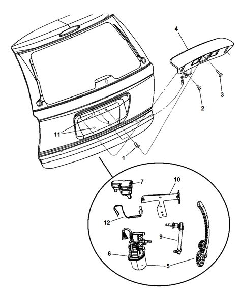 2006 Chrysler Town And Country Parts by Liftgate Panel Handle And Motor For 2006 Chrysler Town