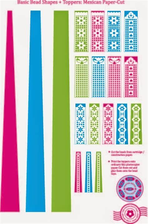 papel picado printable paper beads allfreepapercraftscom