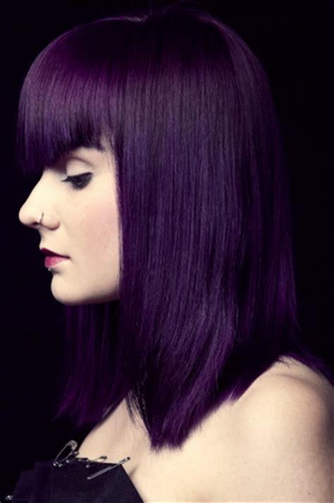 permanent purple hair dye    short  spectacular