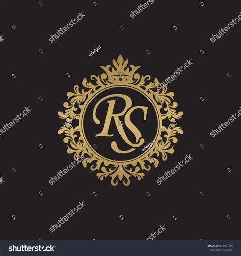 rs initial luxury ornament monogram logo stock vector 343550129