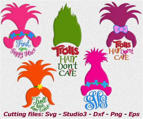 Trolls Hair Template by Troll Svg Trolls Svg Troll Hair Don T Care Trolls