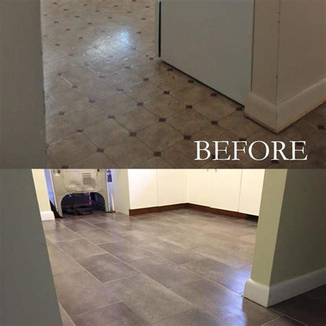 Stick Tiles Floor by Peel And Stick Floor Tiles Linoleum Laundry Room In
