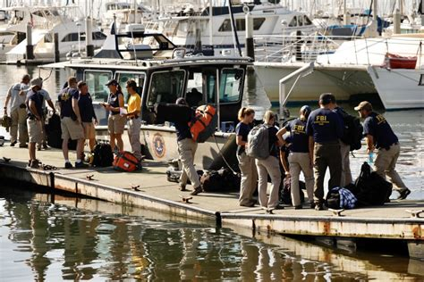 california boat fire  bodies  search begins