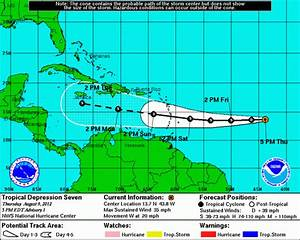 Tropical Depression Seven forms, moving toward Caribbean ...