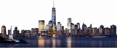 Skyline Transparent York Background Clipart Clip Cities