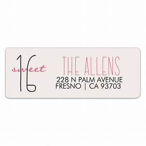 sweet 16 custom color return address labels paperstyle With colored return address labels