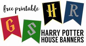 Harry Potter House Banners Free Printable - Paper Trail Design