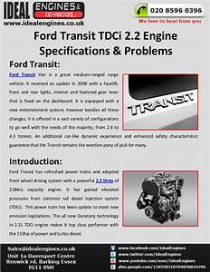 Ford Transit 2 2 Tdci Engine Specifications  U0026 Problems
