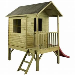 Cabane Toboggan Pas Cher : maison enfant bois toboggan les cabanes de jardin abri ~ Dailycaller-alerts.com Idées de Décoration