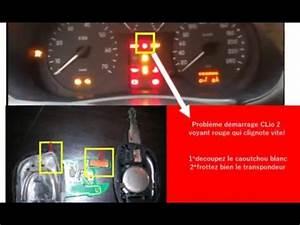 Voyant Kangoo : probl me d marrage clio 2 voyant rouge qui clignote vite youtube ~ Gottalentnigeria.com Avis de Voitures