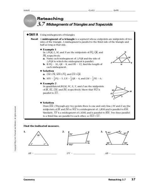 Triangle Midsegment Worksheet Pdf Todayheadyvoverblogcom