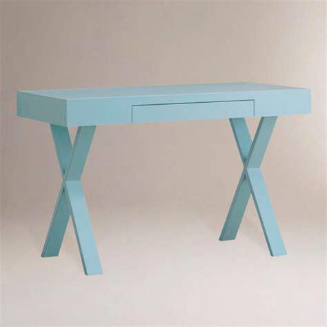 World Market Josephine Desk Black by Light Blue Josephine Desk Modern Desks And Hutches