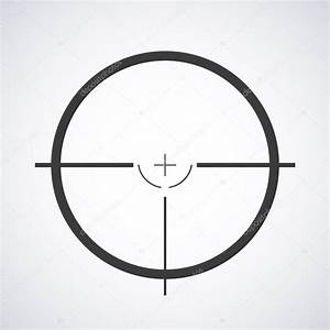 Target icon, sight sniper symbol isolated on a gray ...