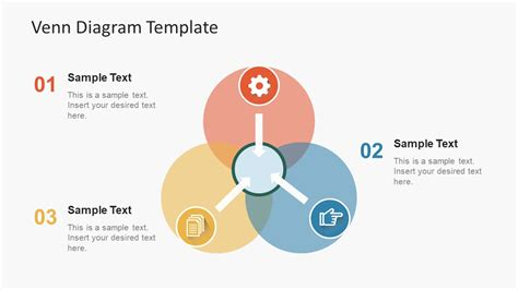 simple flat venn diagram powerpoint template slidemodel