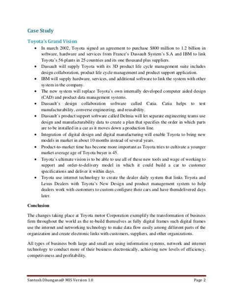 beautiful business management information systems resume