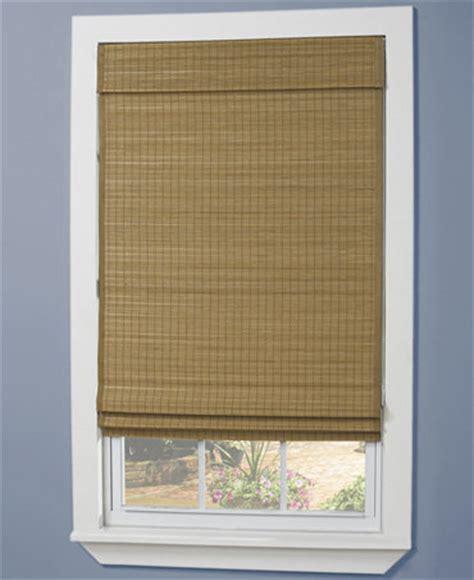 Home Basics Matchstick Bamboo Wood Roman Shades Macy's