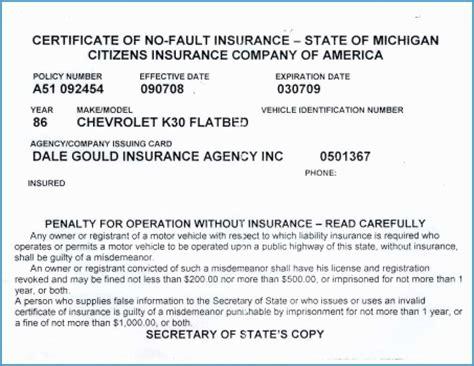 inspiring  fake auto insurance card template