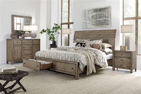 Aspenhome Tildon 4-piece Sleigh Storage Bedroom Set In Mink