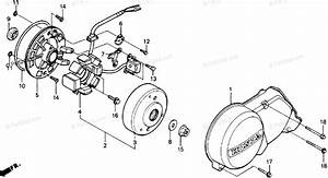 Honda Motorcycle 1991 Oem Parts Diagram For Alternator