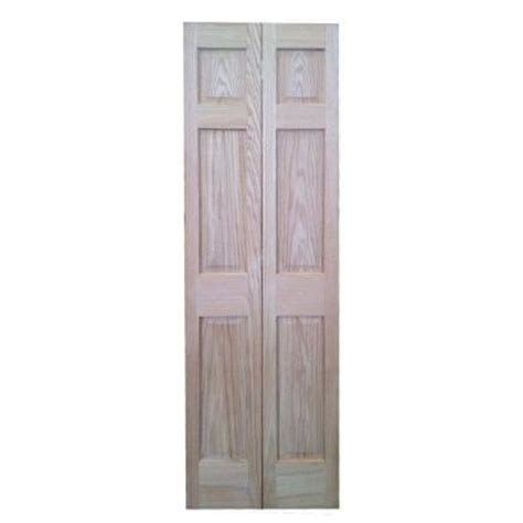 36 in x 80 in 6 panel solid oak interior closet bi