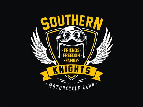 Bold, Playful Logo Design For Southern Knights Mc By