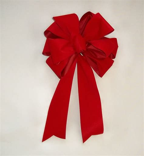 red velvet bows set of 4 red christmas bows outdoor red