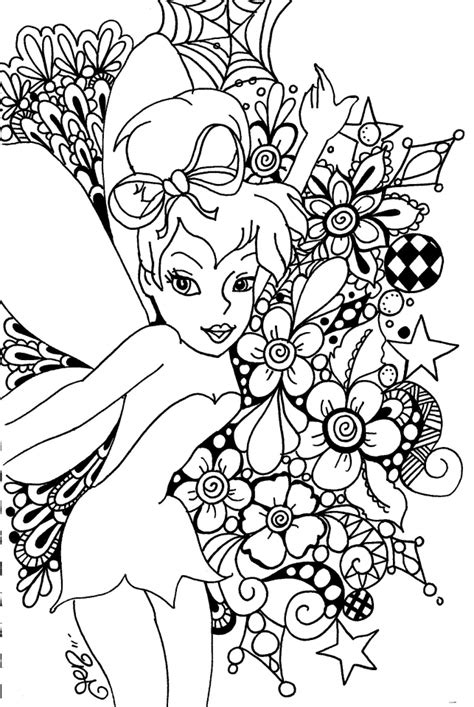 tinker bell coloring pages printable  girls