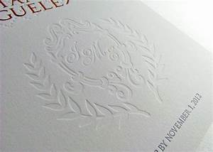 letterpress image design by digby rose With wedding invitation embossing stencil