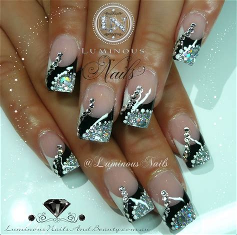 black and silver nail designs black white and silver nail how you can do it at