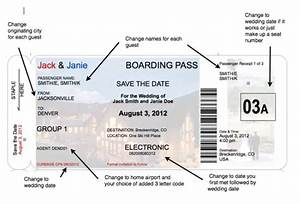 boarding pass invite templates | Boarding Pass Save the ...
