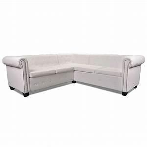 Chesterfield Sofa 4 Sitzer : vidaxl chesterfield sofa 5 sitzer kunstleder wei g nstig kaufen ~ Bigdaddyawards.com Haus und Dekorationen