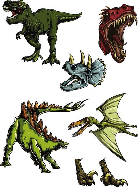 Cartoon Dinosaurs Clip Art Vector
