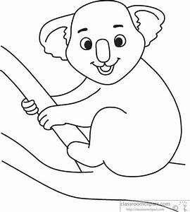 Animals Clipart- cute-koala-black-white-outline-914 ...