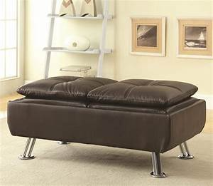 Sofa beds ottoman with chrome legs quality furniture at for Sofa bed philadelphia