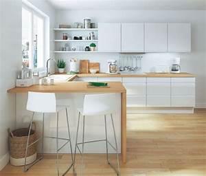 Deco Cuisine Bois : salle manger cuisine le bois s 39 invite dans la cuisine dans la d co ou l 39 am nagement ~ Melissatoandfro.com Idées de Décoration