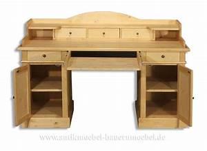 Schreibtisch Mit Aufsatz : sbt 25 sta schreibtisch mit aufsatz landhausstil massivholz ~ Orissabook.com Haus und Dekorationen