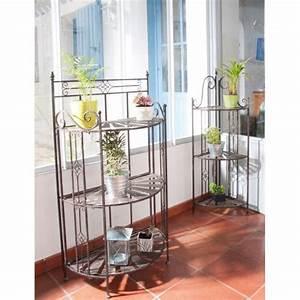 Etagere De Jardin Pour Plantes : etag re droite pour plantes sellette 3 niveaux m tal ~ Teatrodelosmanantiales.com Idées de Décoration