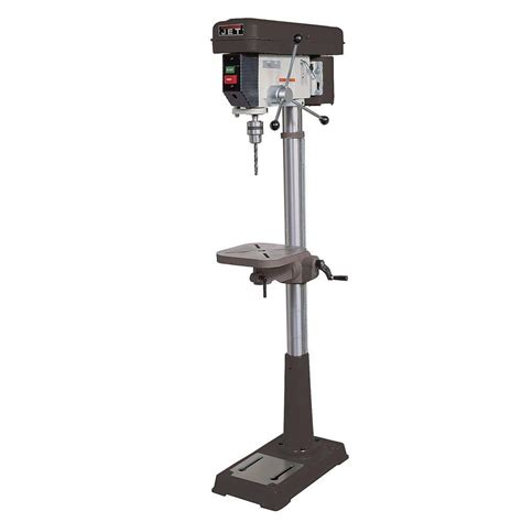 jet 3 4 hp 15 in floor standing drill press with worklight 16 speed 115 volt j 2500 354400