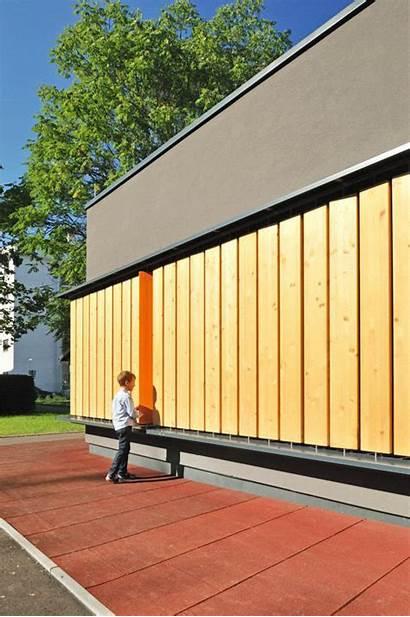 Kindergarten Facade Interactive Miran Architecture Contemporist Colorful