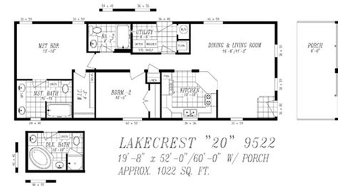 Wide Mobile Home Floor Plans by Clayton Manufactured Homes Floor Plans Single Wide 511166