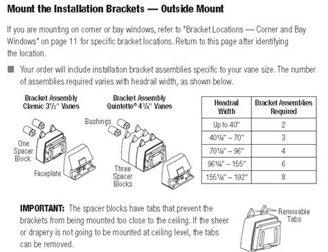 hunter douglas luminette installation brackets  mount automated shade  store