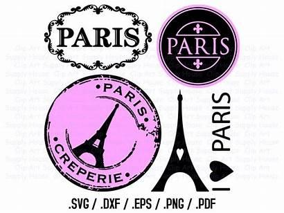 Paris Clipart Svg Parisian Silhouette French Cricut