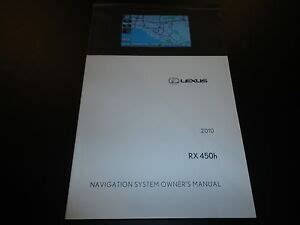 car service manuals pdf 2010 lexus rx navigation system 2010 lexus rx 450h navigation system owners manual book ebay