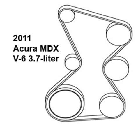Acura Mdx Liter Serpentine Belt Diagram