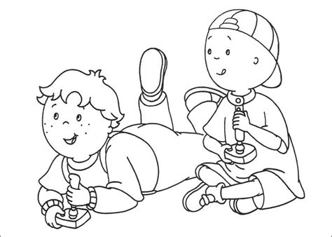 Caillou Coloring Pages Printable - Democraciaejustica