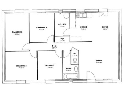 plan maison 150m2 4 chambres aide modele maison 4 chambres