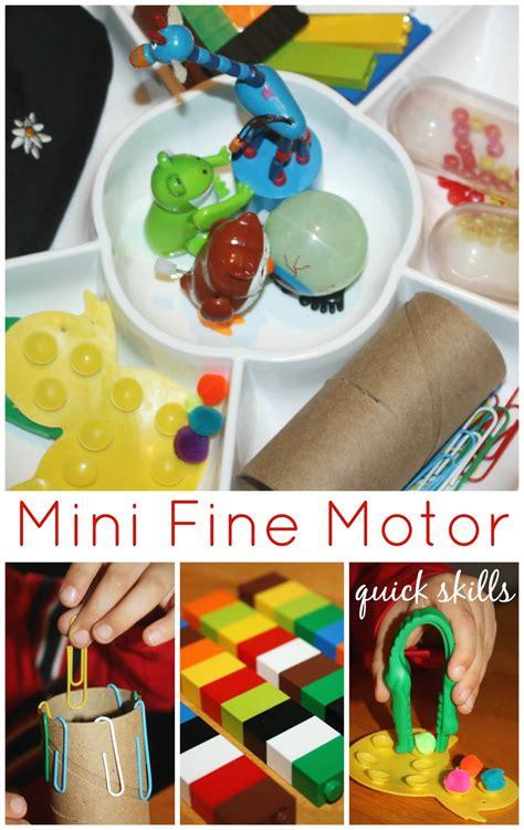 mini motor skills activity tray motor friday 722 | Mini Fine Motor Activity Tray Quick Skills Activities