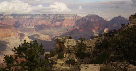 Arizona's Grand Canyon On A Foggy Day