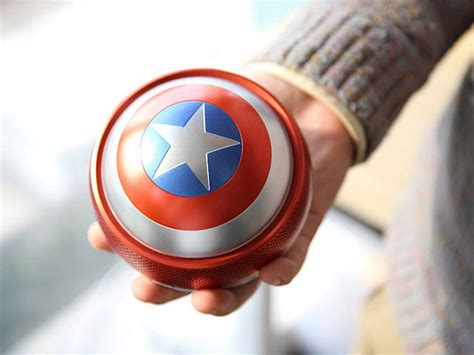 captain america shield bluetooth speaker mini gadgets superhero marvel hero gadget kettlebell themed portable accessories goodies geek inner channel these